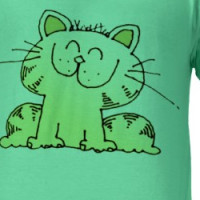 Cute Cartoon Kitten | Cute Yellow Kitten Tshirt T-shirt