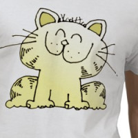 Funny Cartoon Kitten | Funny Kitten Tshirt T-shirt