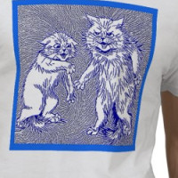 Kitty Cats in Blue  by Louis Wain T-shirt