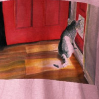Quigley the Doorcat Ringer-T Shirt T-shirt