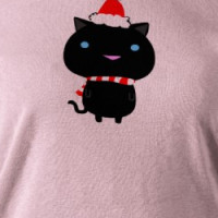 Ultra Kawaii - holiday kitten hat T-shirt
