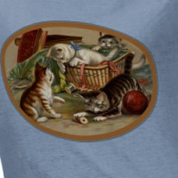 Vintage Playful Kittens T-Shirt T-shirt